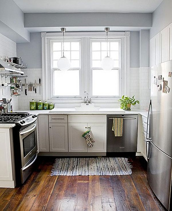 Functional And Practical Kitchen Solutions For Small: 27个节省空间的小型厨房设计理念_润柏家